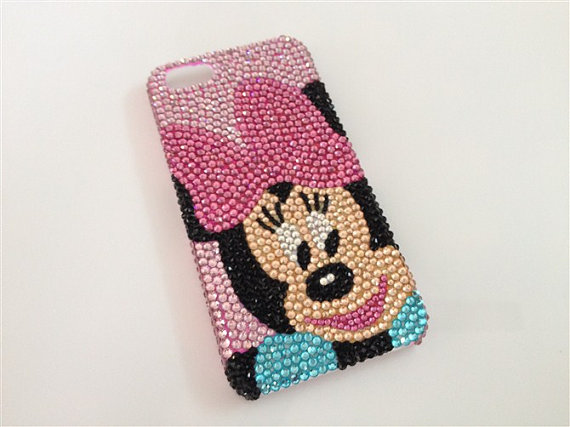 Bling Diamond Crystal cartoon Case for iphone 5
