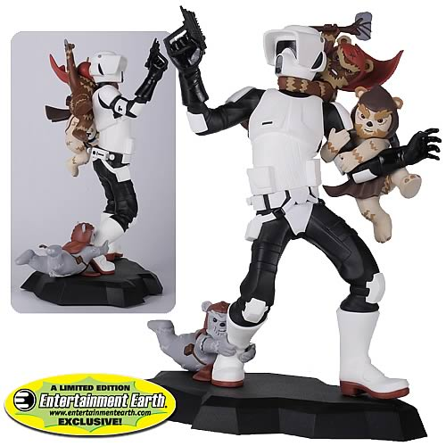 Star Wars Scout Trooper Ewok Attack Maquette