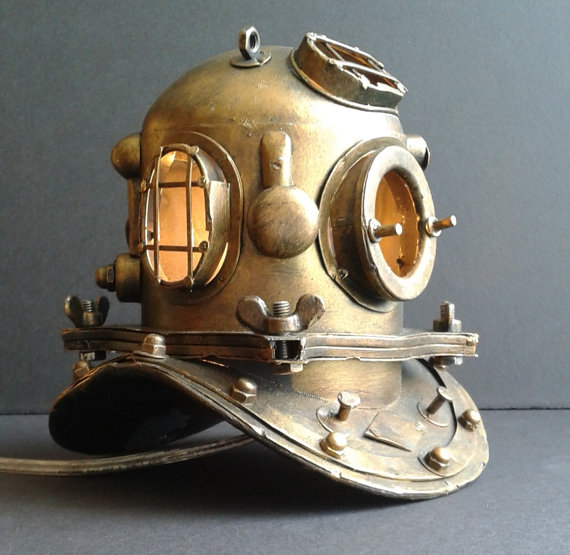 Nautical Scuba Diver's Accent Lamp