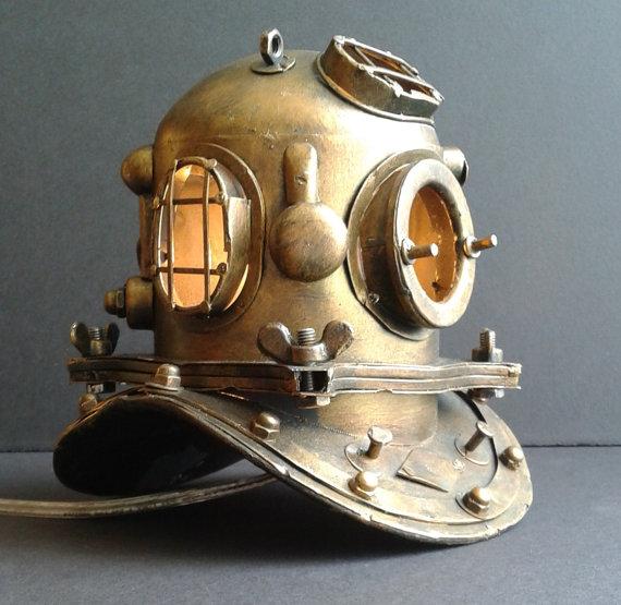 Nautical Scuba Diver's Accent Lamp