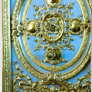 Blue door in the Palace of Versailles - blue and gold - iphone 5 hard case