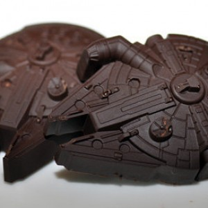 2 Dark Chocolate Star Wars Millennium Falcons 5.00
