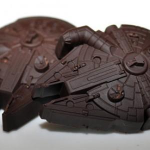 2 Dark Chocolate Star Wars Millennium Falcons 5.00