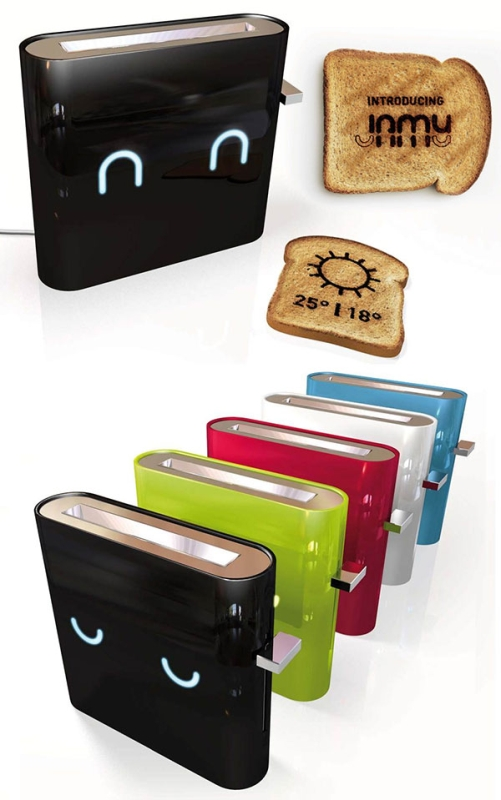 Toaster Prints the Forecast on Your Breakfast Bread