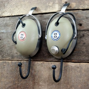 Vintage Headphone Hangers Wall Hooks