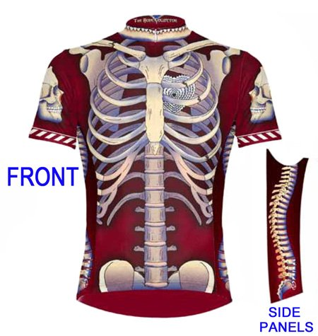 Primal Wear Bone Collector Skeleton Cycling Jersey Men's Short Sleeve
