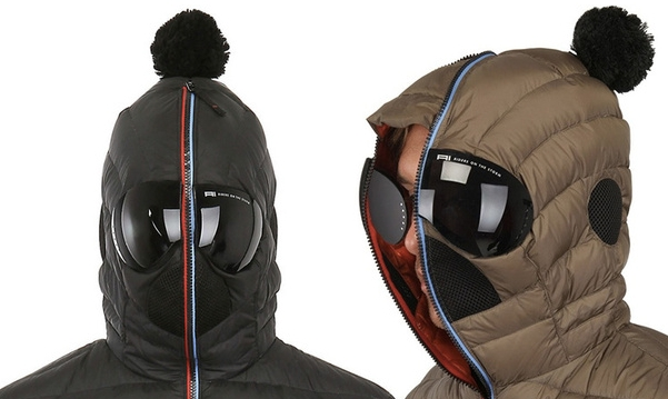 Matt Nylon Hooded Down Jacket
