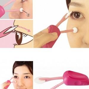 Cosmetic eye lid eyeliner support set