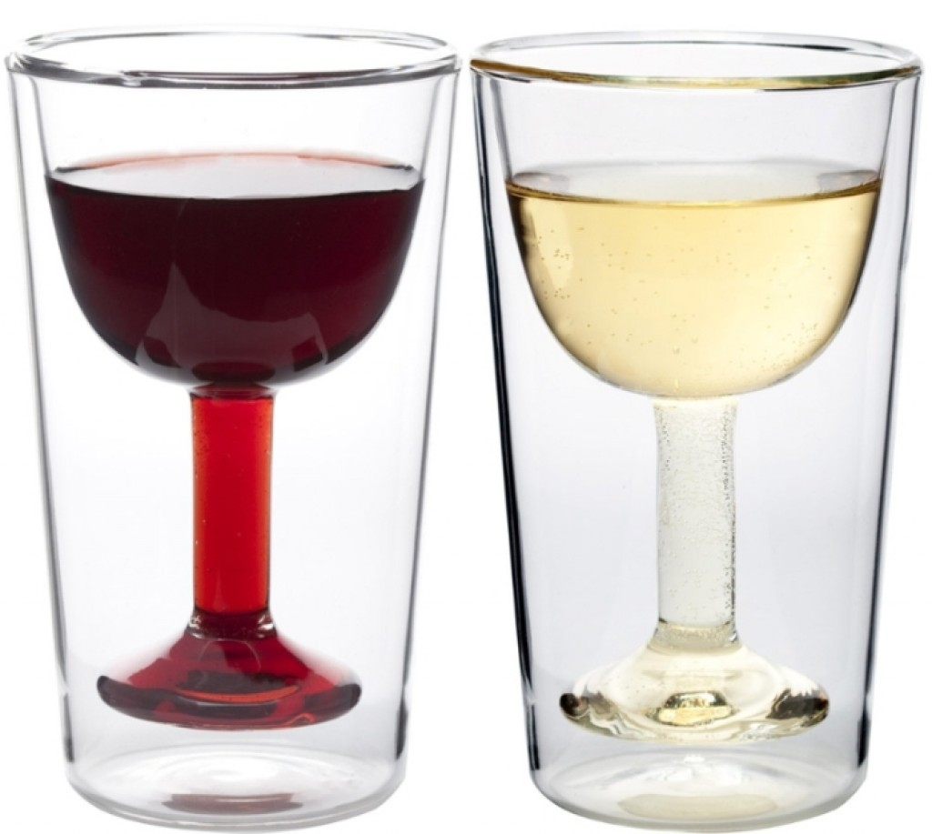 insulated wine glasses gadgets matrix. Black Bedroom Furniture Sets. Home Design Ideas