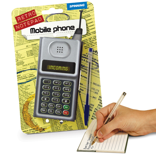 RETRO MOBILE PHONE NOTEPAD
