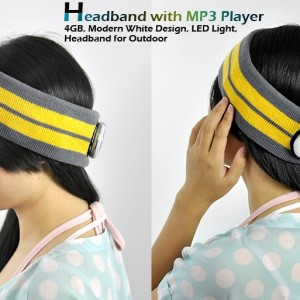 Headband with MP3 Player