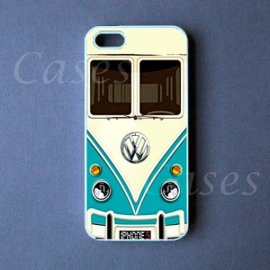 Mini Bus Teal Iphone 5 Cover