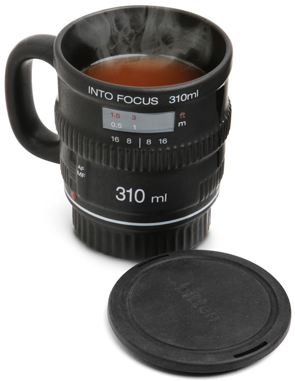 73% Discount: Into Focus Camera Lens Coffee Mug