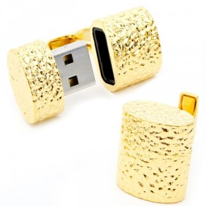 Gold Oval 4GB USB Cufflinks