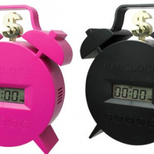 Money bank clock