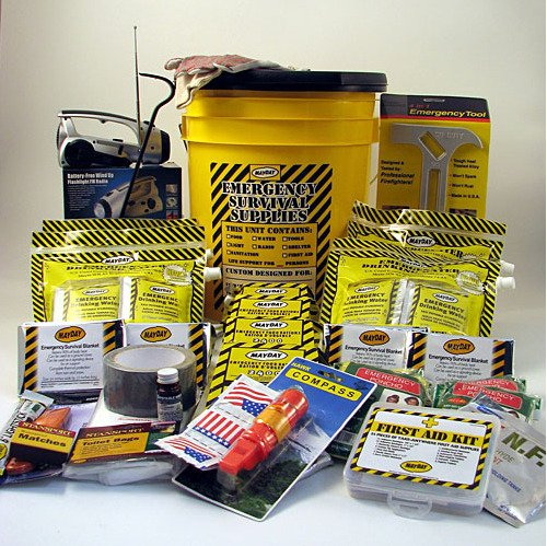 Earthquake Kit 4 Person Deluxe Bucket Home Survival Emergency Preparedness