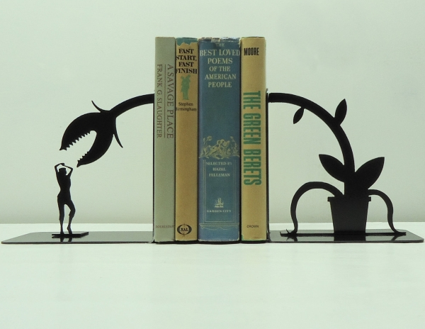Feed Me Seymour Metal Art Bookends