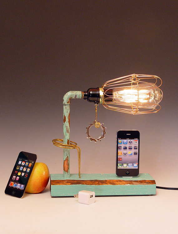 iPhone, iPod dock AND table lamp
