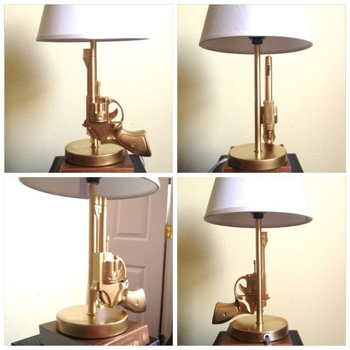 Gun Style Gold Table Lamp