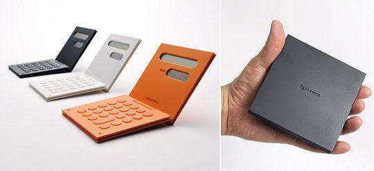 Foldable designer calculator