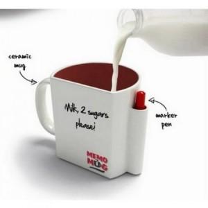 MEMO Mug with Message Board & Pen