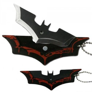 Batman Batarang Shape Dark Knight Steel Knife Necklace