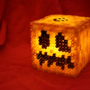 Light Up Minecraft Pumpkin Box