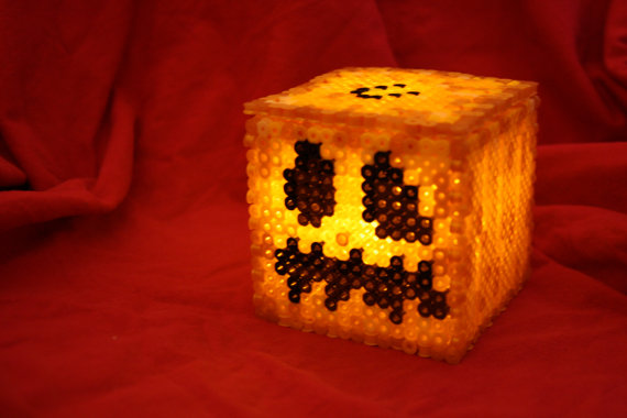 Light Up Minecraft Pumpkin Box