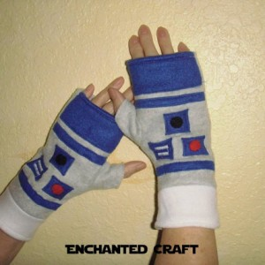 FLEECE Star Wars R2-D2 Fingerless Gloves