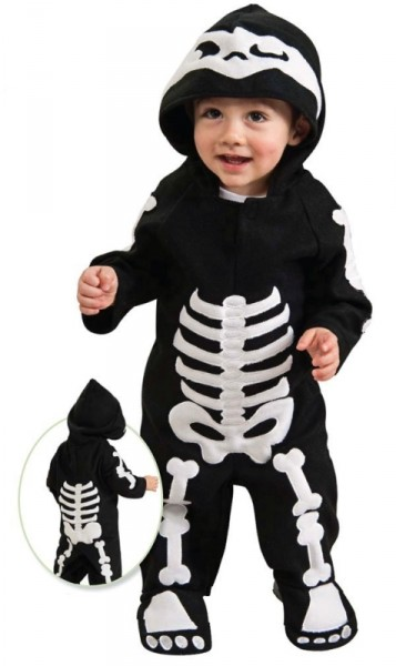 Child Baby Skeleton Romper Costume