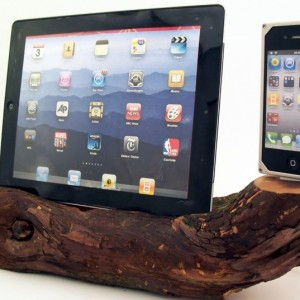 Sierra Red Wood iPad & iPhone 4 Dock