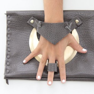 knuckle and Finger clutch handbag