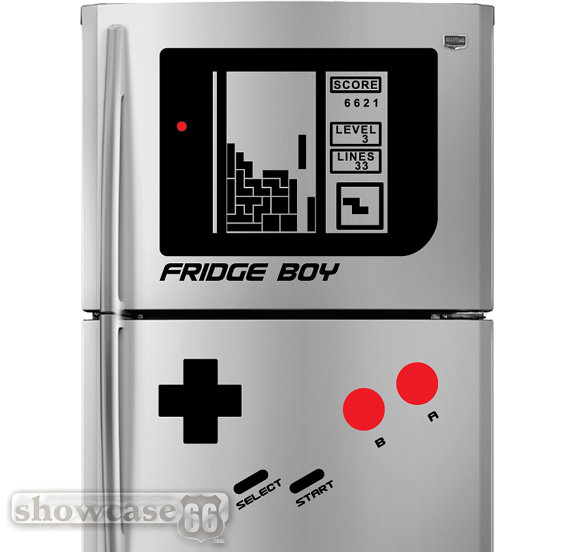 Retro Falling Blocks Fridge Boy