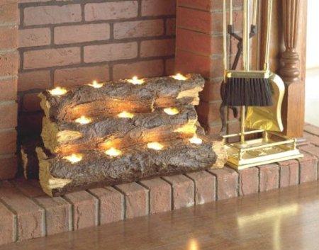 Resin Tealight Fireplace