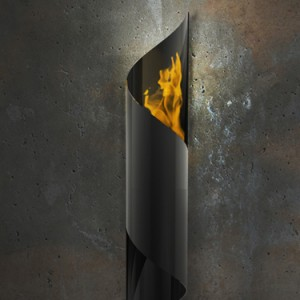 Nuvo wall mounted garden torch Fireburner brings new light to the décor world. Can be used indoors and out. Caution should be taken on placement of wall torch.