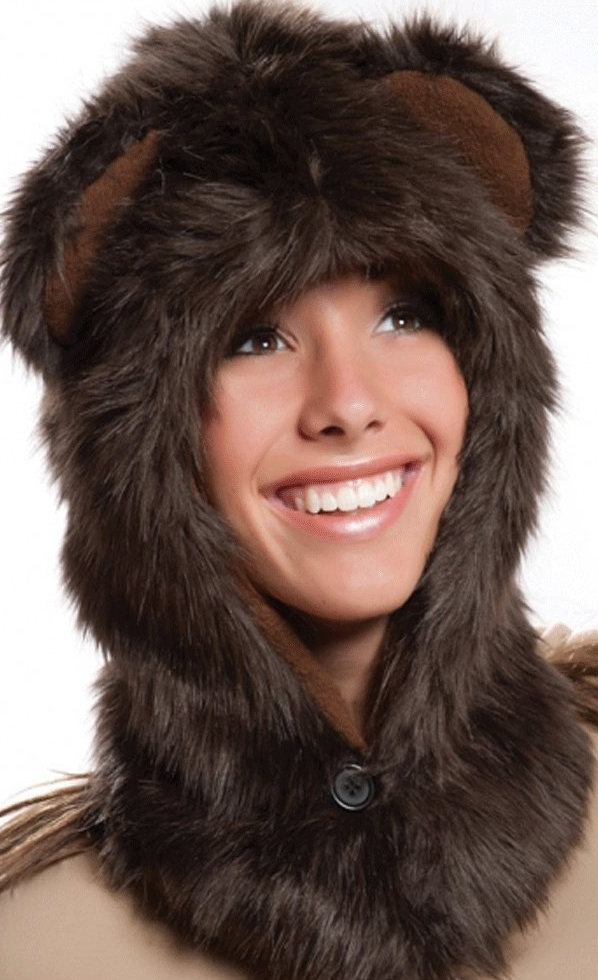 Bear Half Hood Animal Hat
