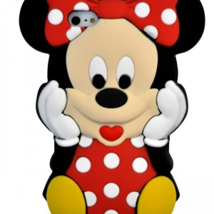 3D Cute Cartoon Mouse Soft Silicone Case Cover for Apple iPhone 5