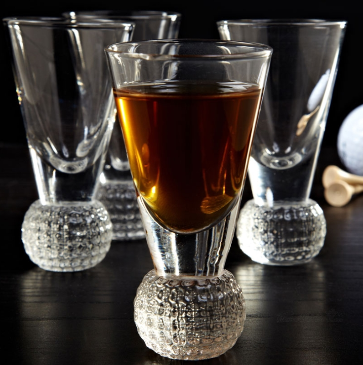 Dimpled Golf Ball Shot Glass