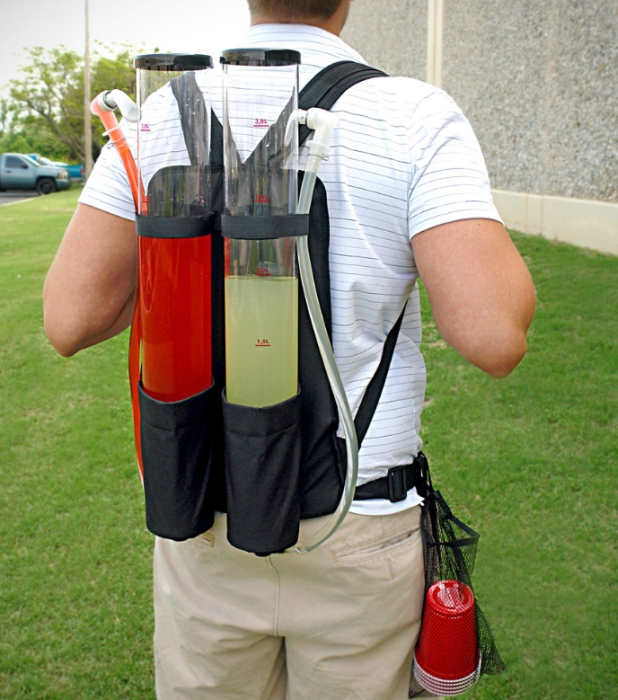 Dual Tank Backpack Drink Dispenser