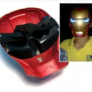 Christmas Iron Man Mask with Lite-up Eyes