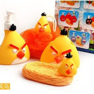 Four-in-one angry bird bath