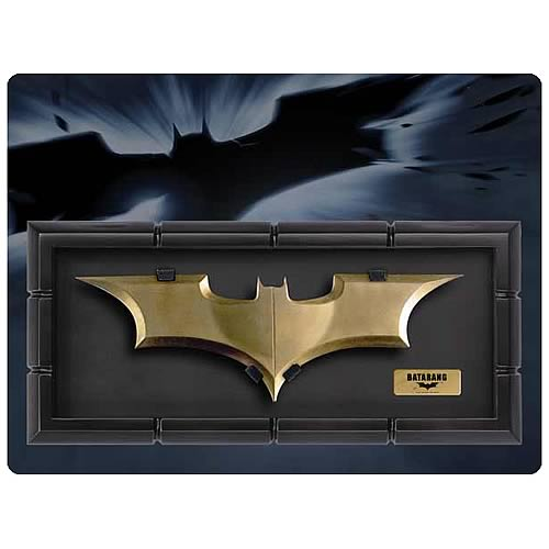 Batman The Dark Knight Batarang Prop Replica with Display