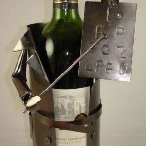 Eye Doctor Metal Wine Bottle Holder