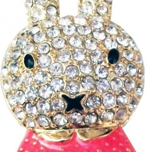 16GB Cute Bunny Jewellery Jewelry USB Flash Pen Drive Disk Memory with Swarovski Crystal