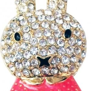 16GB Cute Bunny Jewellery Jewelry USB Flash Pen Drive Disk Memory with Swarovski Crystal