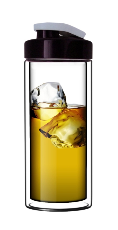 Double-Wall Glass Travel Mug