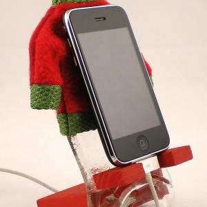 Recycled Slumped Coca cola Bottle in Solid Wood Base iPhone 5