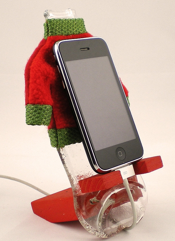 Recycled  Coca cola Bottle Wood Base iPhone 5