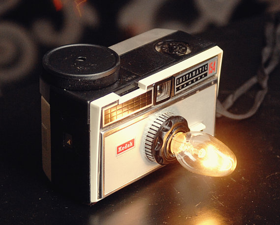 Light from vintage camera