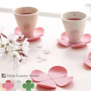 Creative 3D flower-shaped anti-hot silicone coasters coffee
